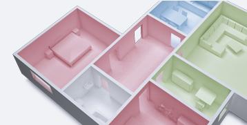 Rauchmelder in Mehrzimmerwohnung
