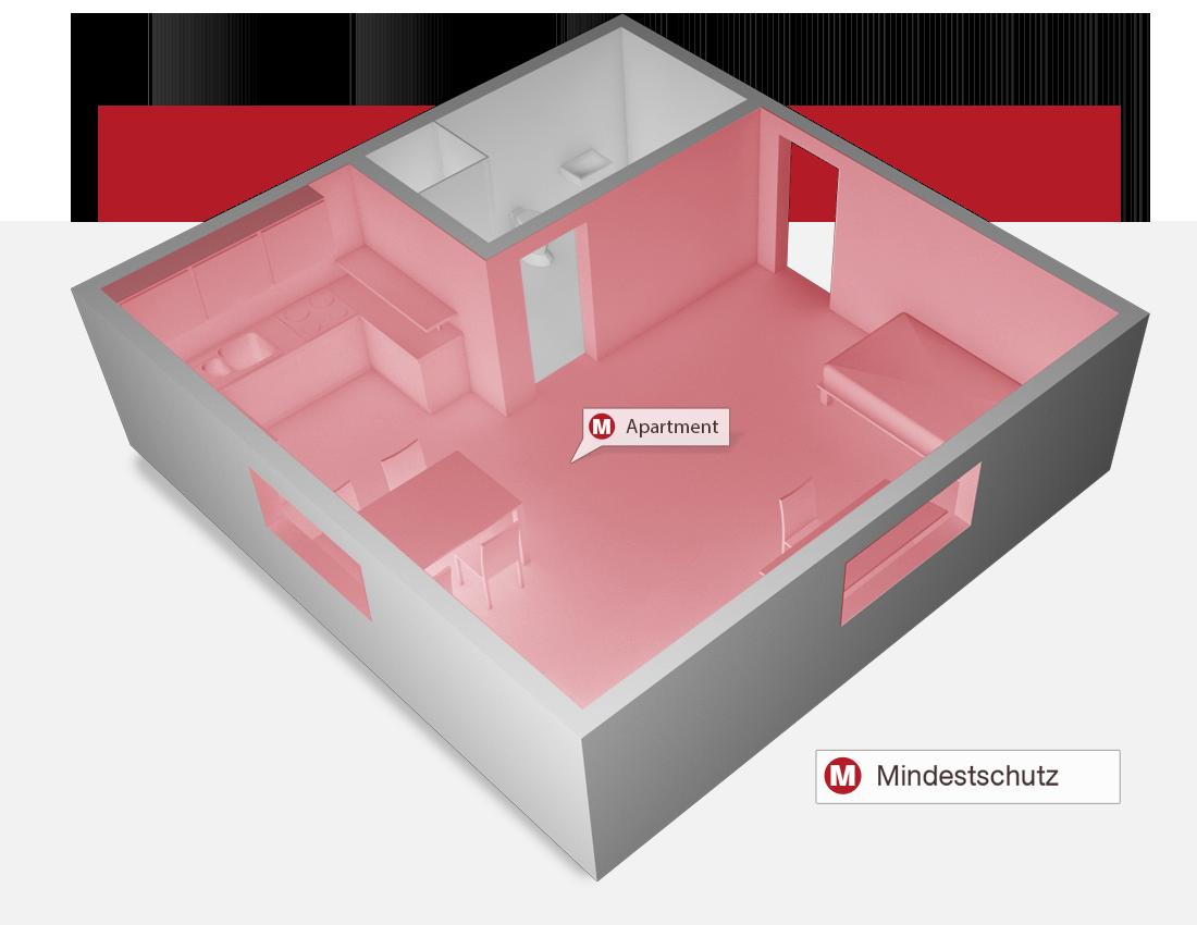 Brandmelder Einzimmerwohnung